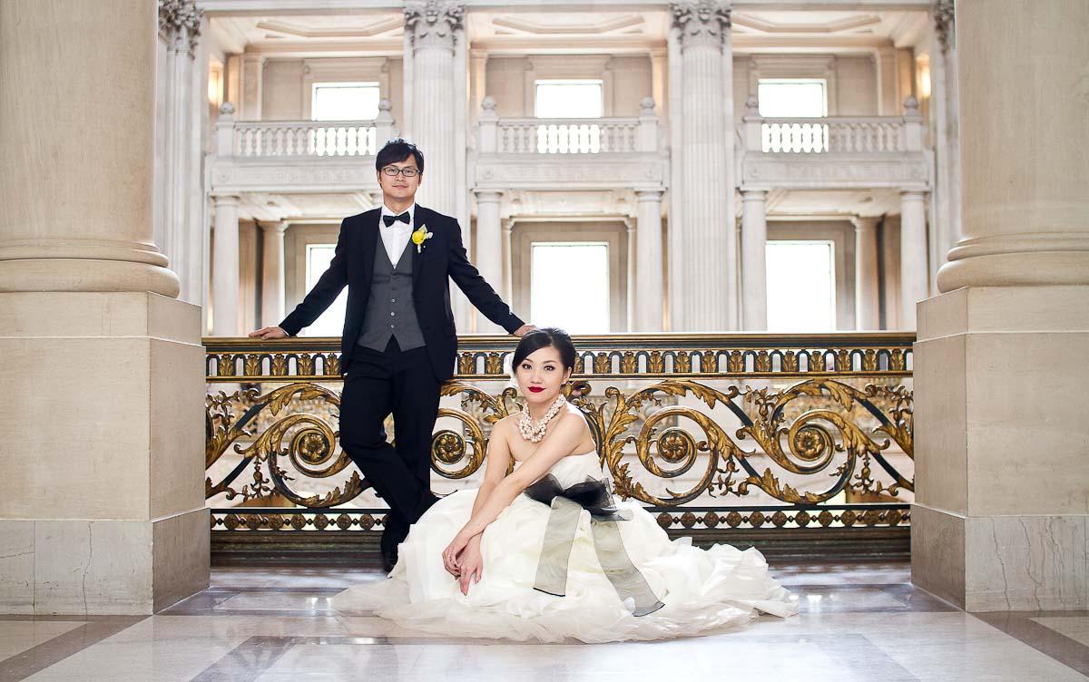 Vickie and Minyu San Francisco City Hall wedding photography