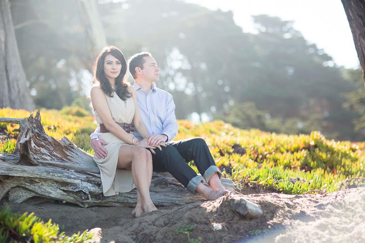 Nisreen and David's Baker Beach engagement photo shoot