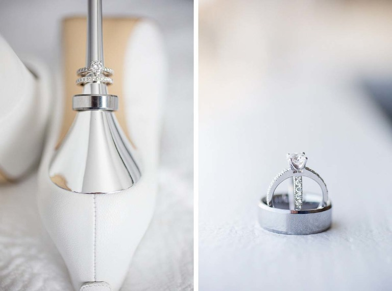 Shoes and rings - Willow Heights Mansion wedding
