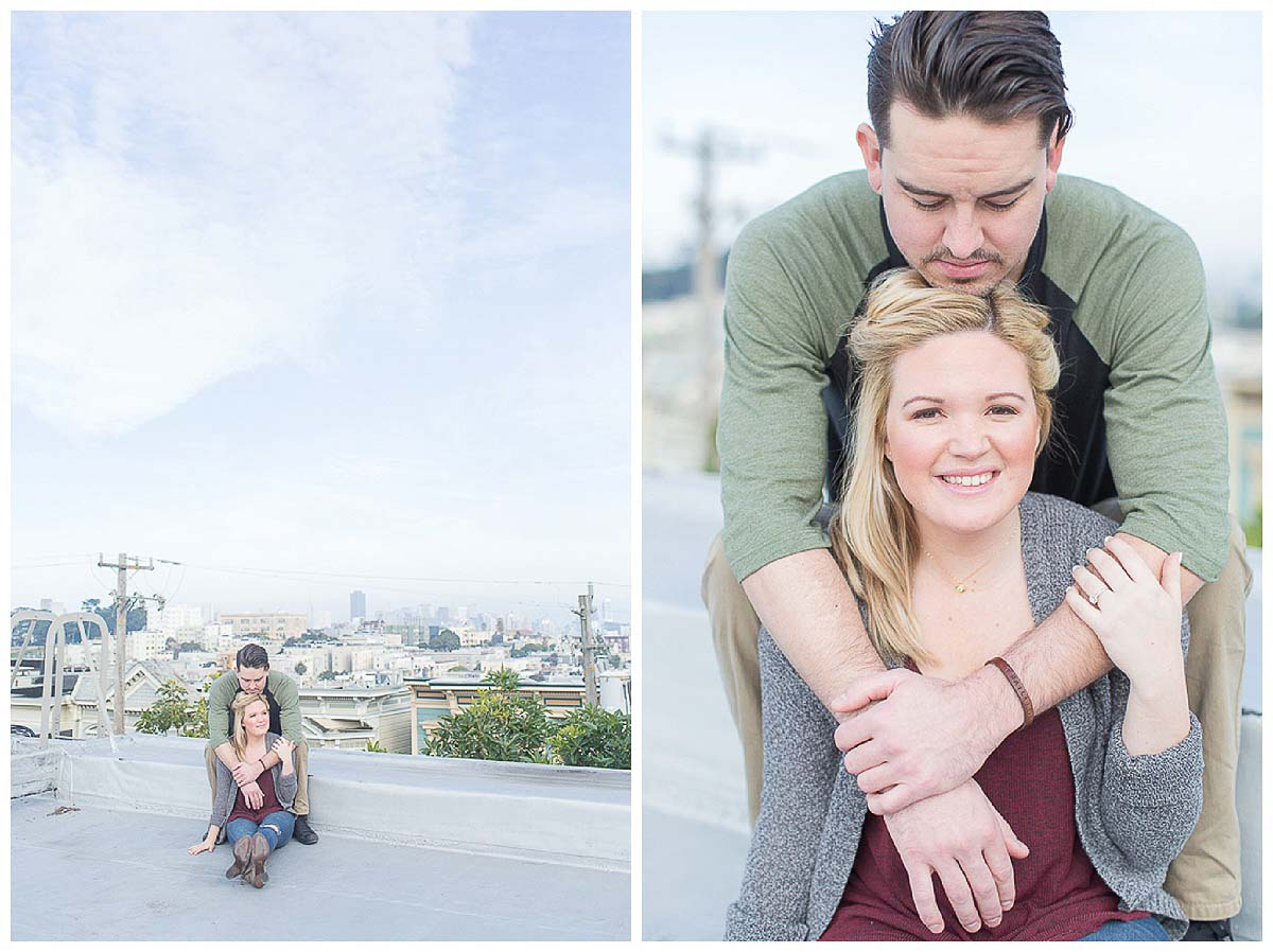 Desa and Dustin engagement photos in San Francisco