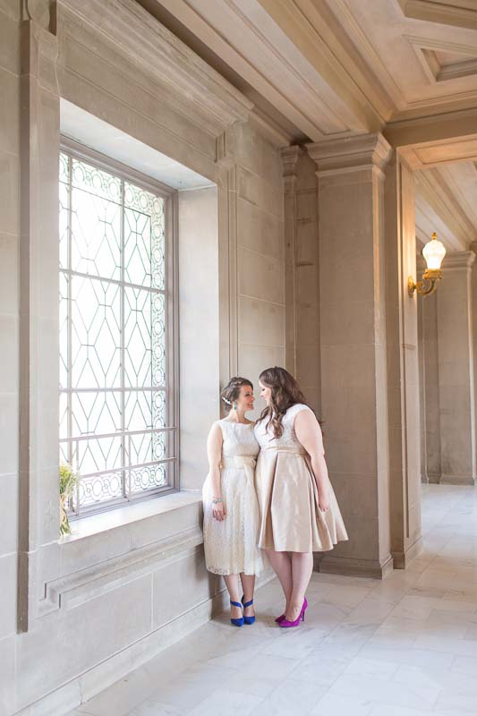 Alyssa & Nicole same sex San Francisco City Hall wedding photographer