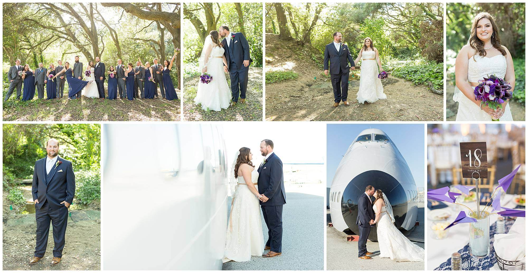 Collage of photos from Joanna and Jim's wedding