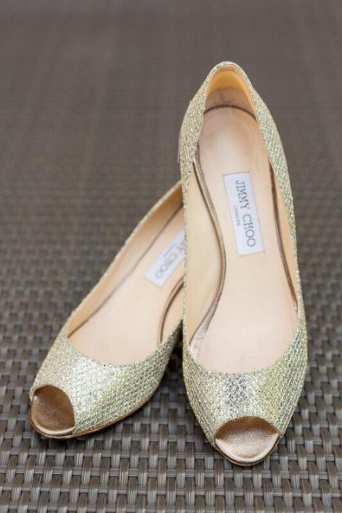 Monique's Jimmy Choo wedding heels