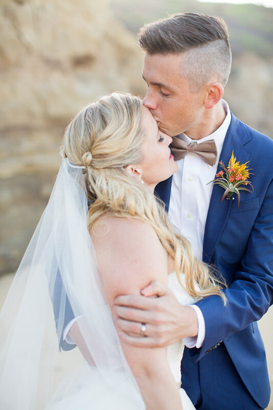 Michelle and Kris beach wedding by San Francisco wedding photographer Red Eye Collection