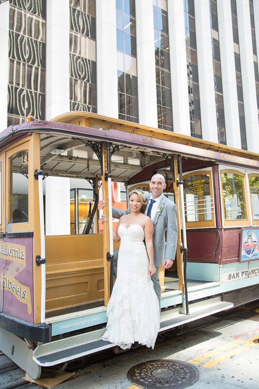 Kim and Paolo's San Francisco wedding photos by Red Eye Collection - photo 32 - cable car