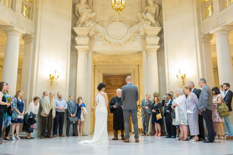 How To Get Married At San Francisco City Hall Typical Crowded Civil Ceremony