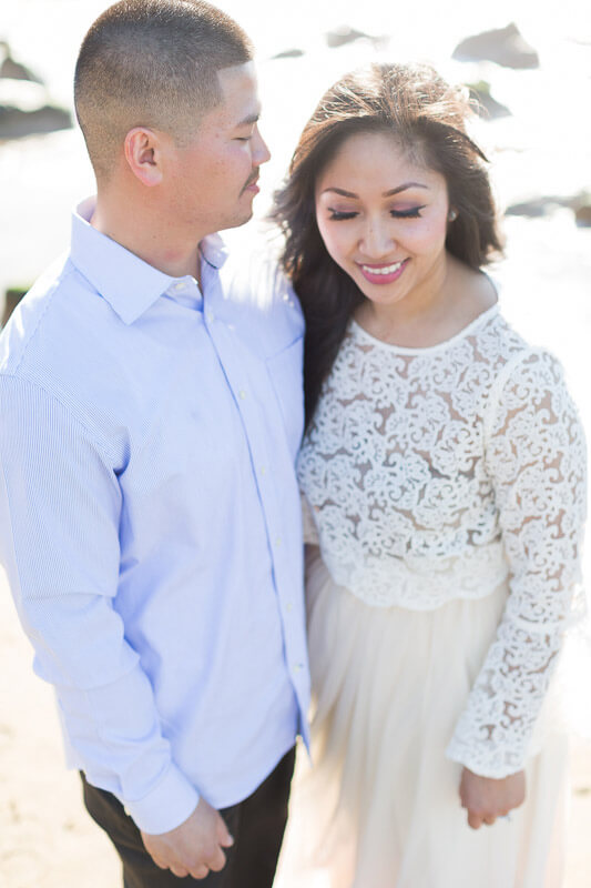 San Francisco engagement photographer Red Eye Collection - beach photo - Ana and Luan 3