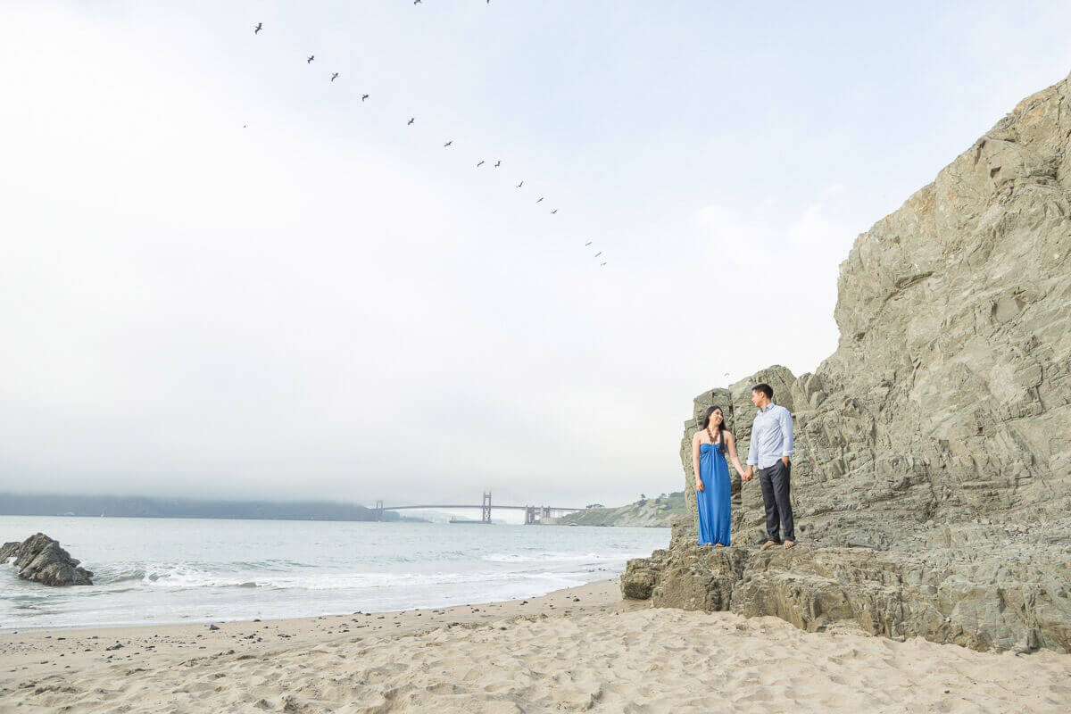 China Beach engagement photo
