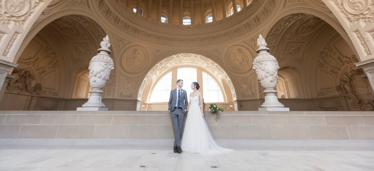 San Francisco City Hall wedding photographer Red Eye Collection - fourth floor gallery photo