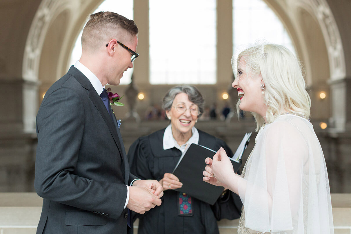 San Francisco City Hall wedding officiant