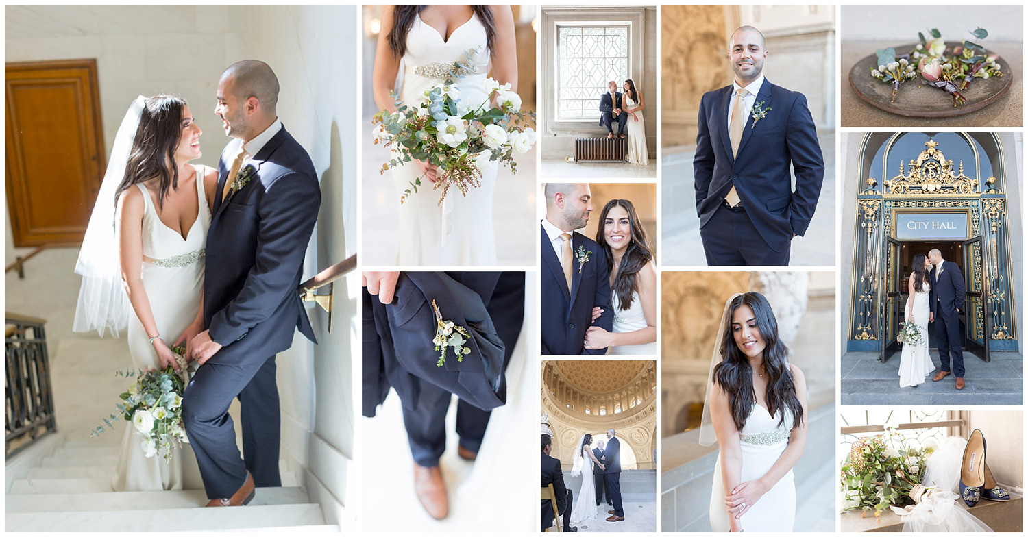Lindsay and Andrew's San Francisco City Hall wedding - photo collage