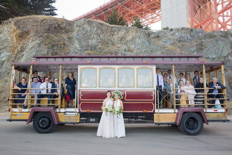 San Francisco City Hall wedding photos - Ashley and Malorie - Cable Car