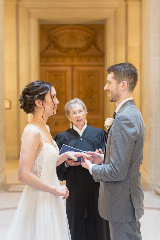 Aya and David's San Francisco City Hall wedding - public ceremony photos - 33