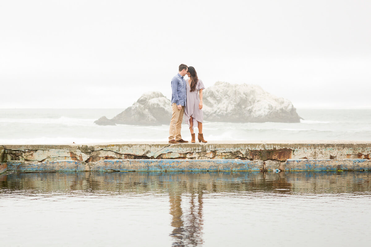 Sutro Baths engagement photo by Red Eye Collection
