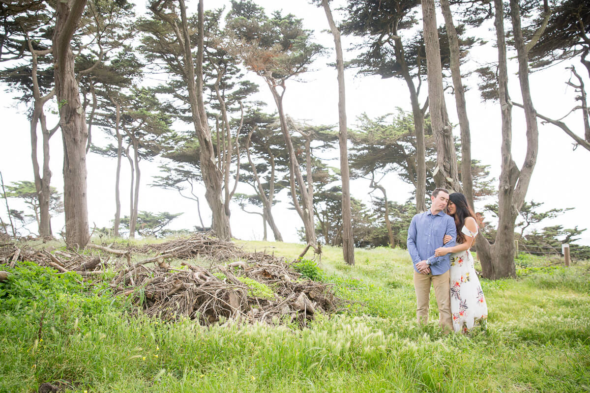 Sutro Baths and Lands End Lookout engagement photo by Red Eye Collection