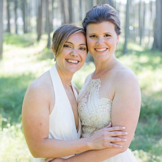 Ashley and Malorie same sex San Francisco City Hall wedding