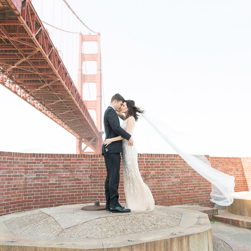 Fort Point wedding photo - Sara and Steven