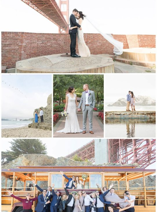Top five 5 best places for wedding photos engagement photos in San Francisco