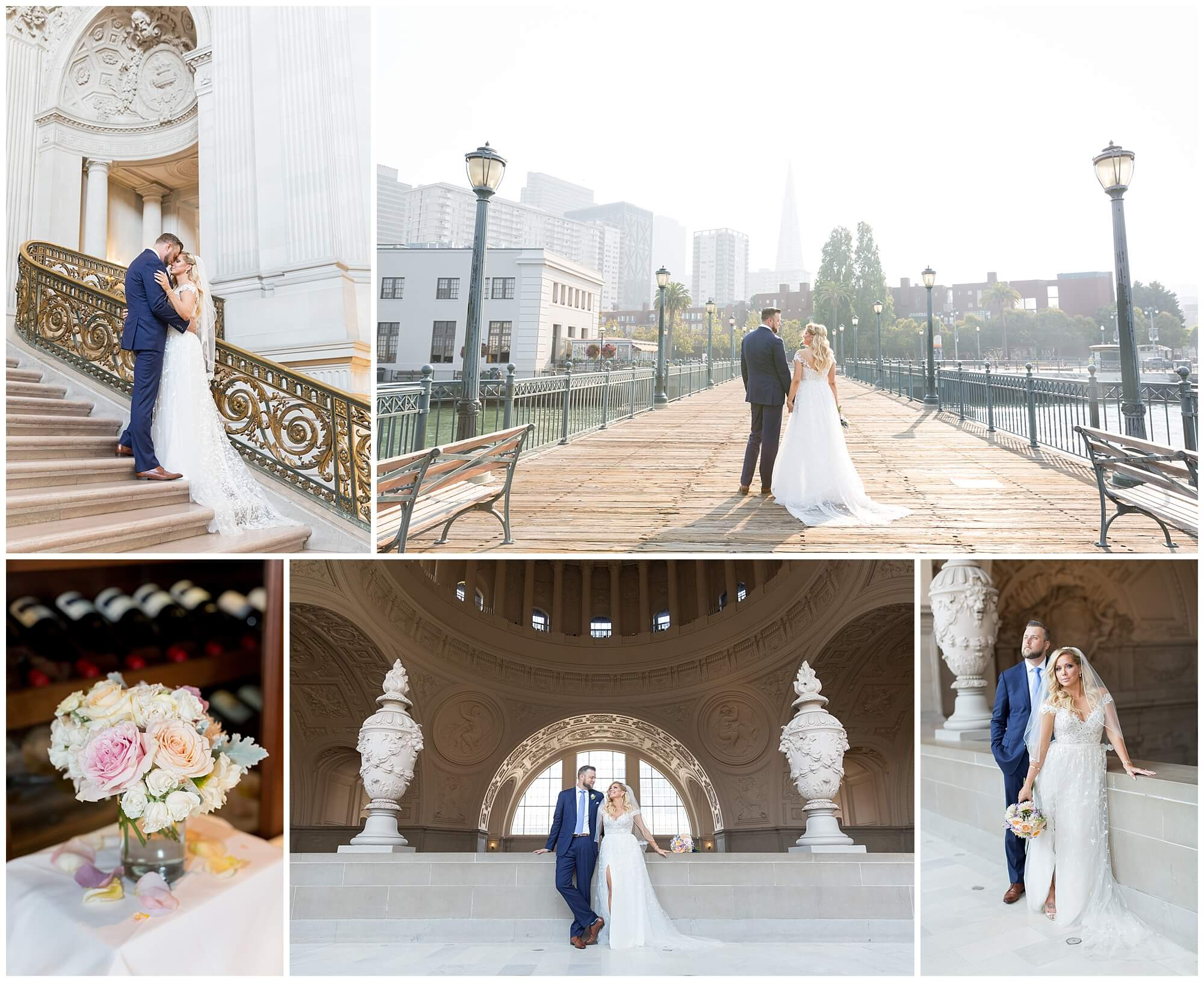 Robyn and Hugh's San Francisco City Hall wedding photos by Red Eye Collection
