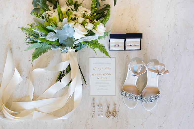 Detail shot - olive and black wedding