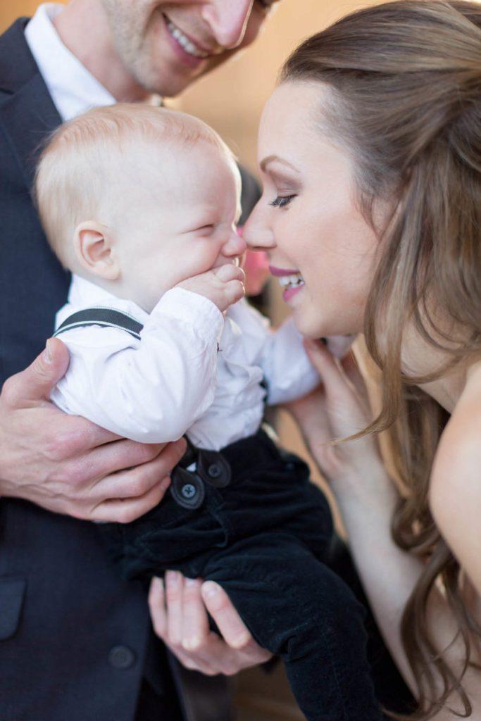 Tasha and Seth's San Francisco elopement - mom and baby