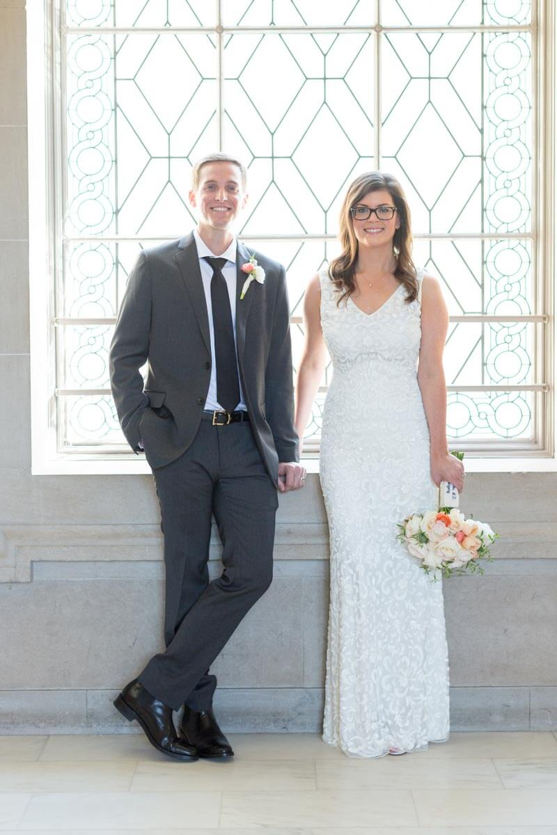 Nicole and Adam's San Francisco City Hall elopement