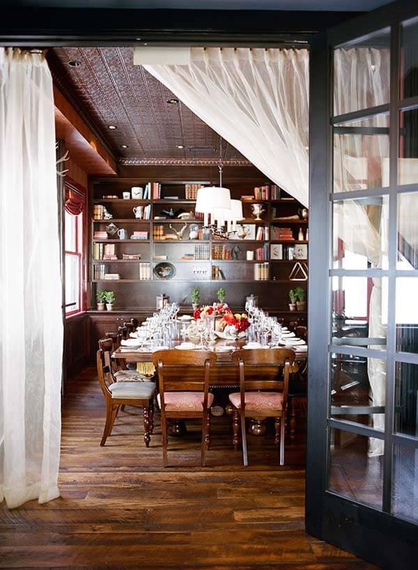 SF City Hall reception dining at Wayfare Tavern - Billiards Room