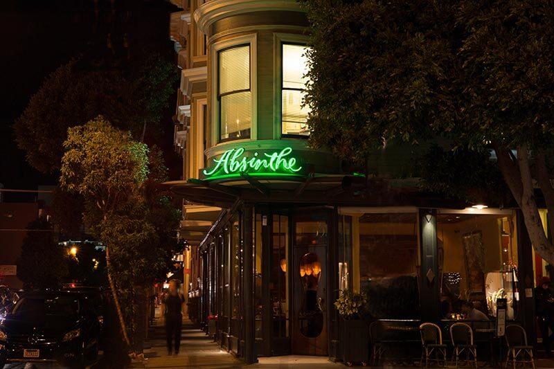 Absinthe restaurant for San Francisco City Hall wedding reception