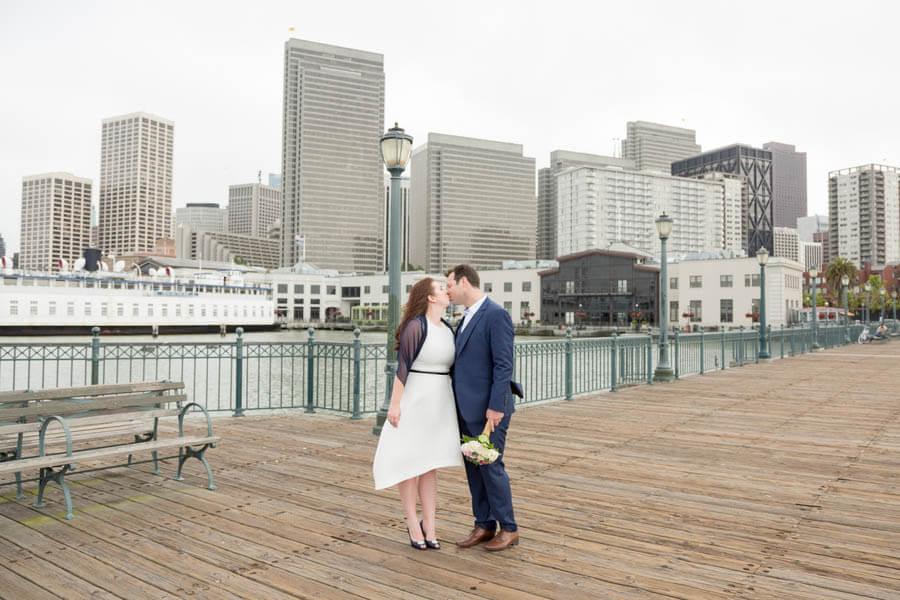 Devon and David wedding photos at Pier 7 San Francisco