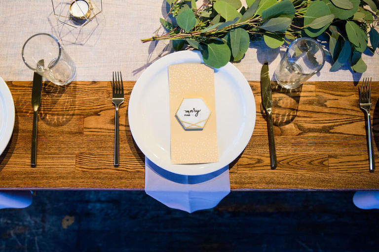 detail photo of place setting
