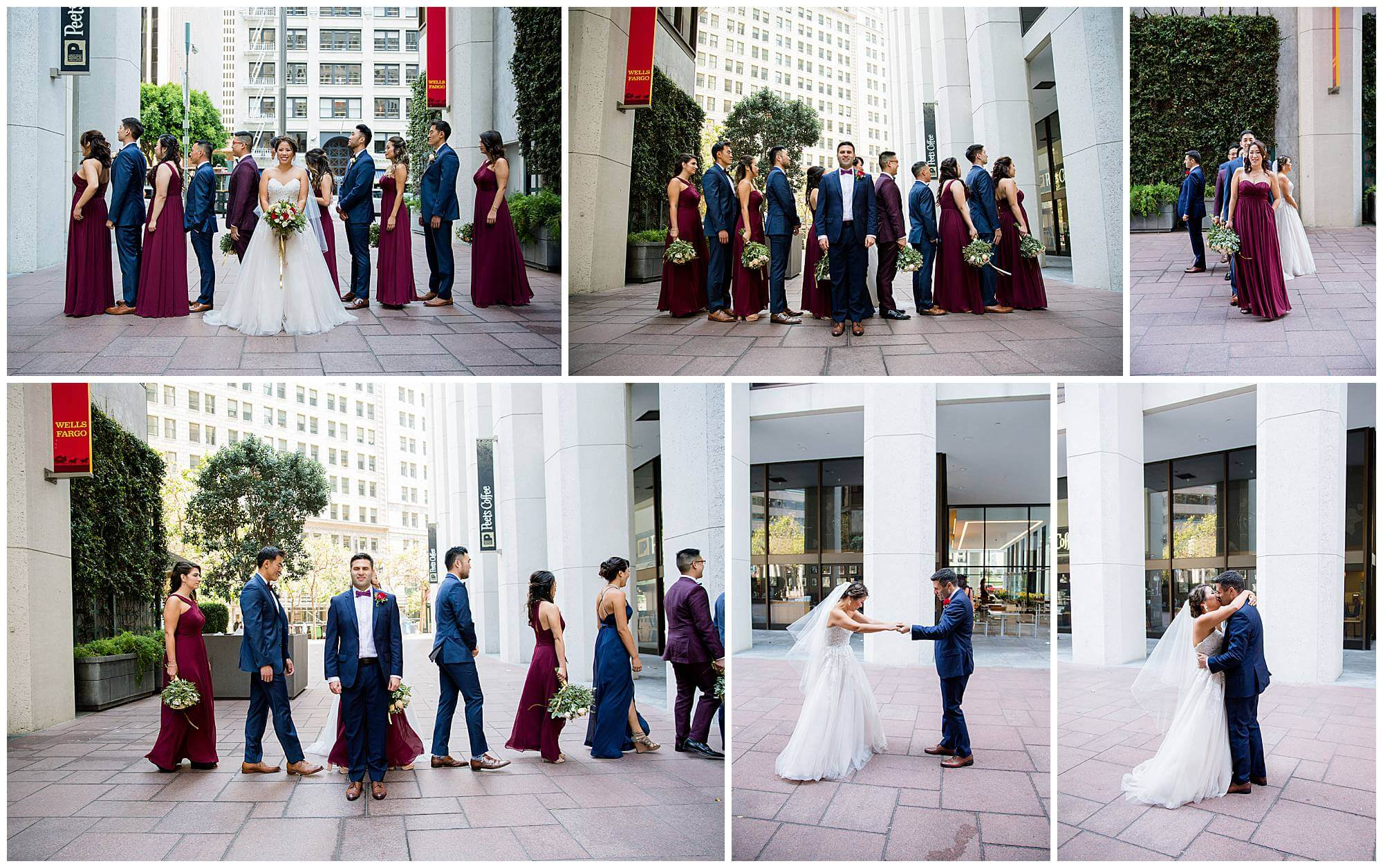 Annie and Leon's San Francisco wedding first look