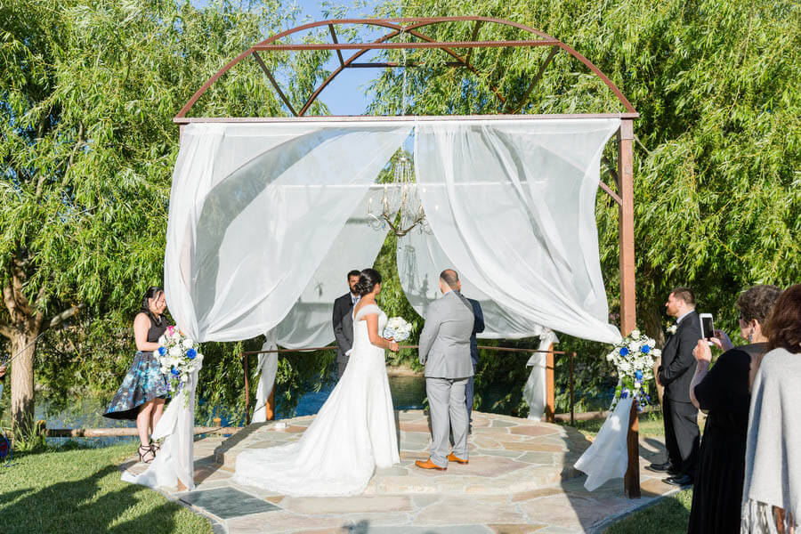 Deepa and Christian outdoor wedding at Nella Terra