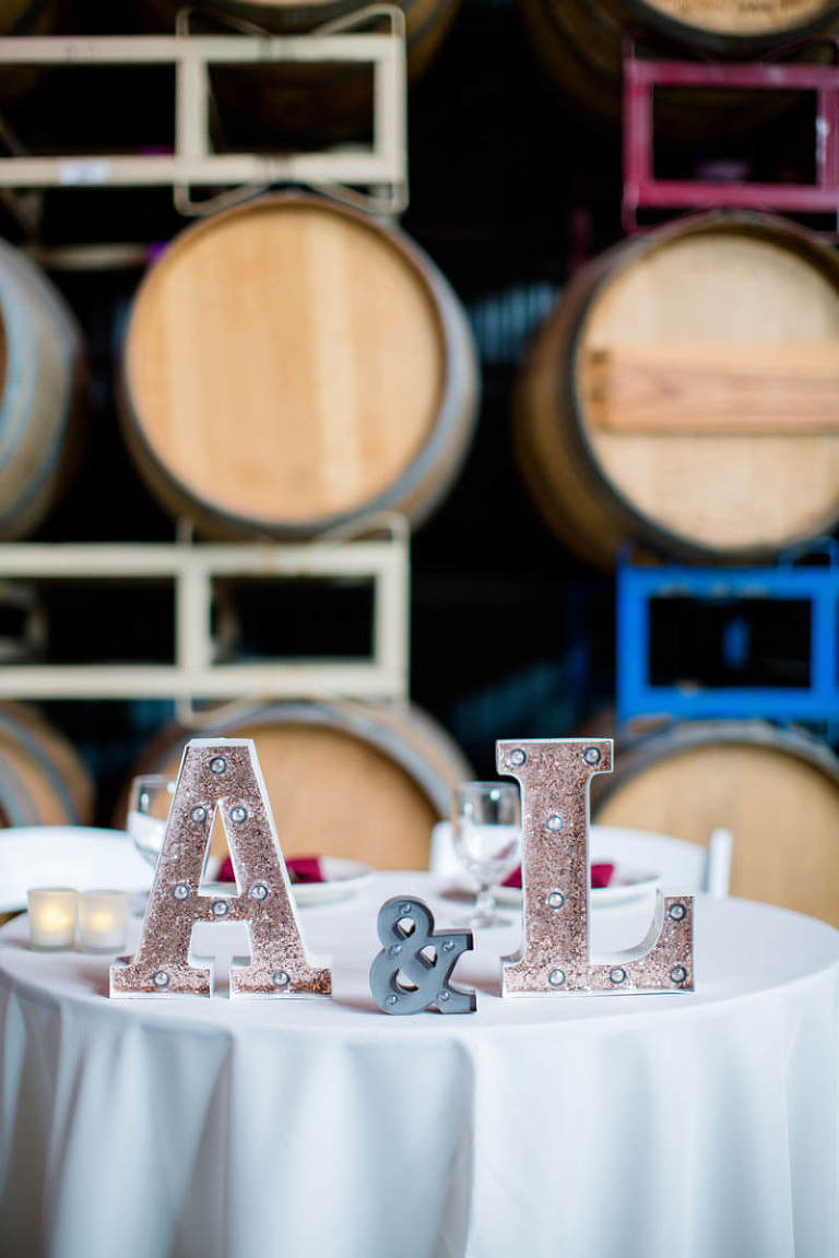 Annie and Leon's sweetheart table at The Winery SF
