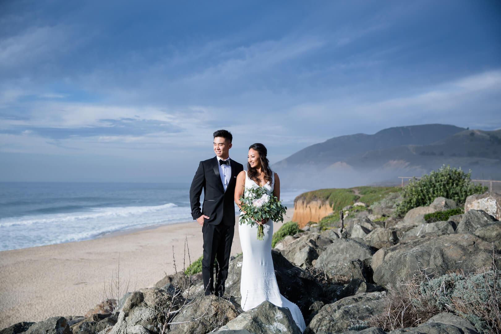 Maya and Kevin at beach near La Costanera