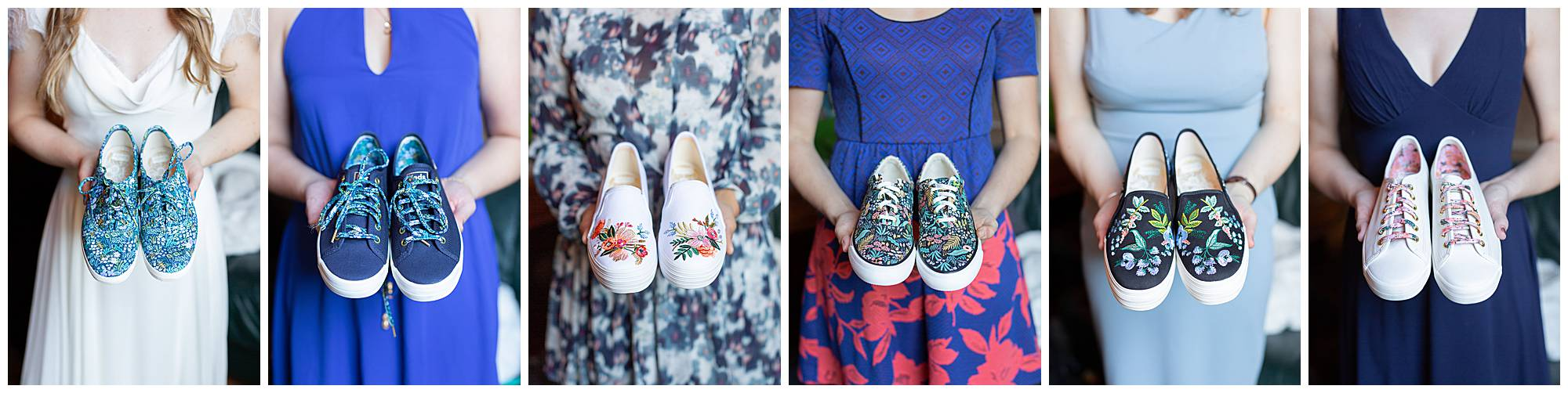 Keds from Rifle Paper Collection gifted to bridesmaids