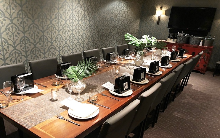 The Pearl private dining room at E&O in San Francisco