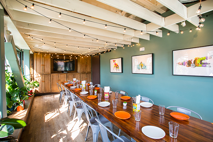 Private dining room at Tacolicous Marina location