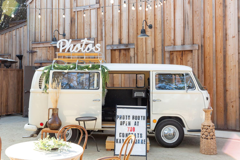 Kayla & Jake - Monterey wedding VW Bus booth
